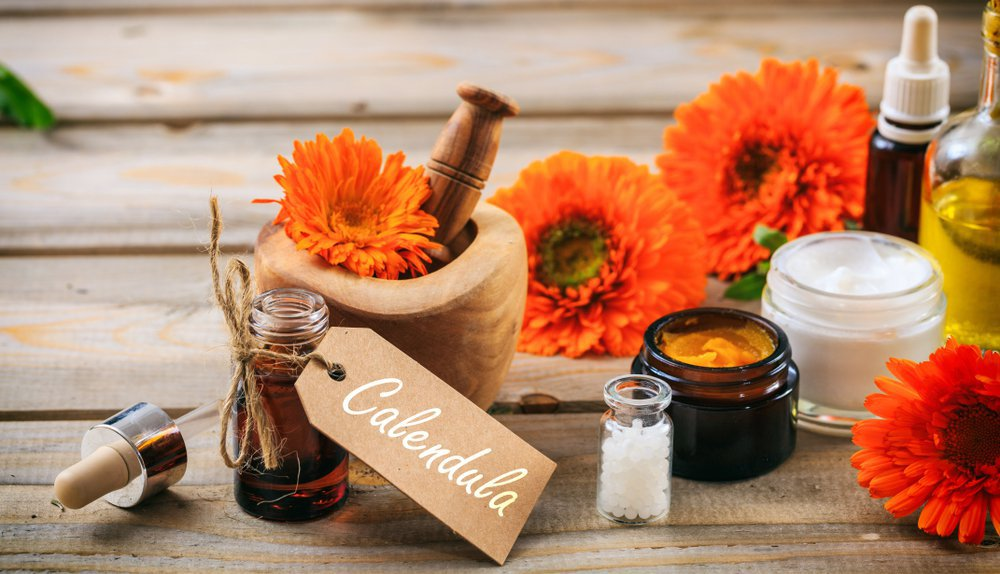 cosmetics with calendula extract