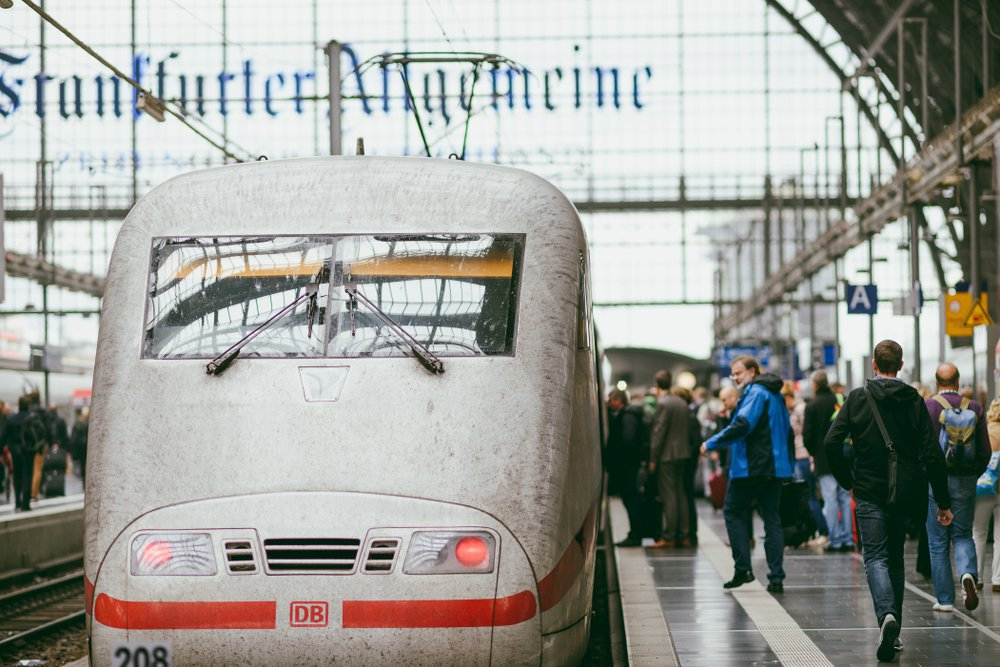 ICE train in Frankfurt Central station