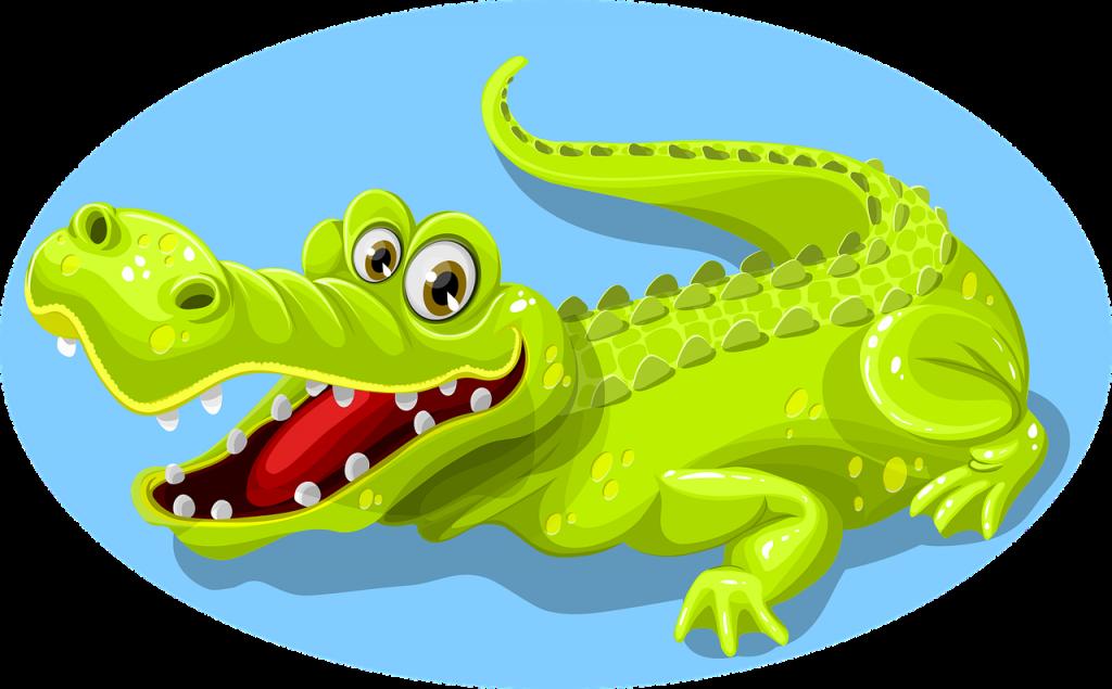 Крокодил был видимо шуткой