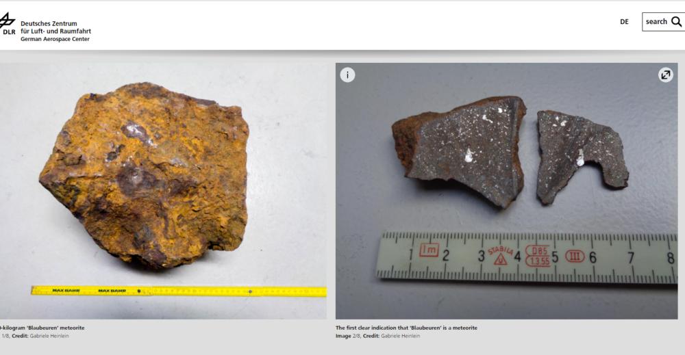 метеорит целый и в разрезе с линейкой фото