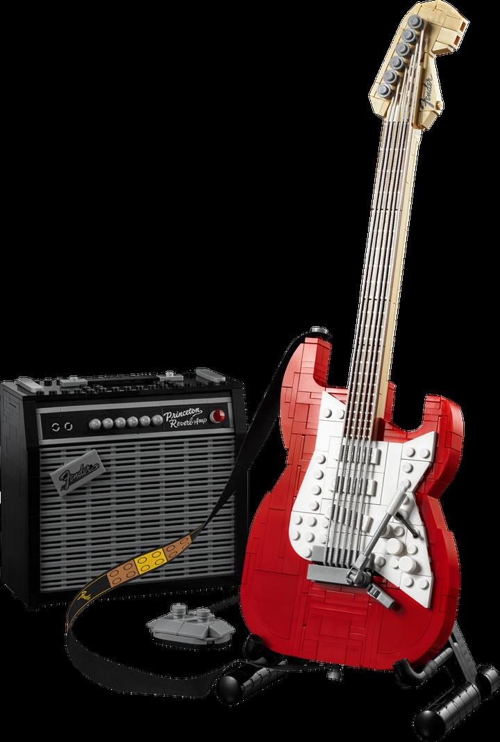 Гитара Lego Fender Stratocaster с усилителем. Фото: пресс-служба Lego