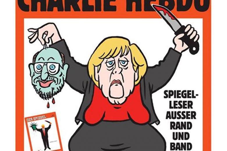 Charlie Hebdo вышел с карикатурой Меркель на обложке фото 1