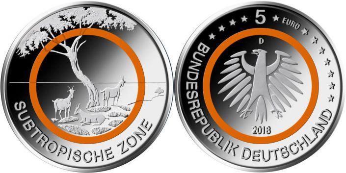 Бундесбанк выпустил «горячую» монету в 5 евро: чем она удивляет? фото 1