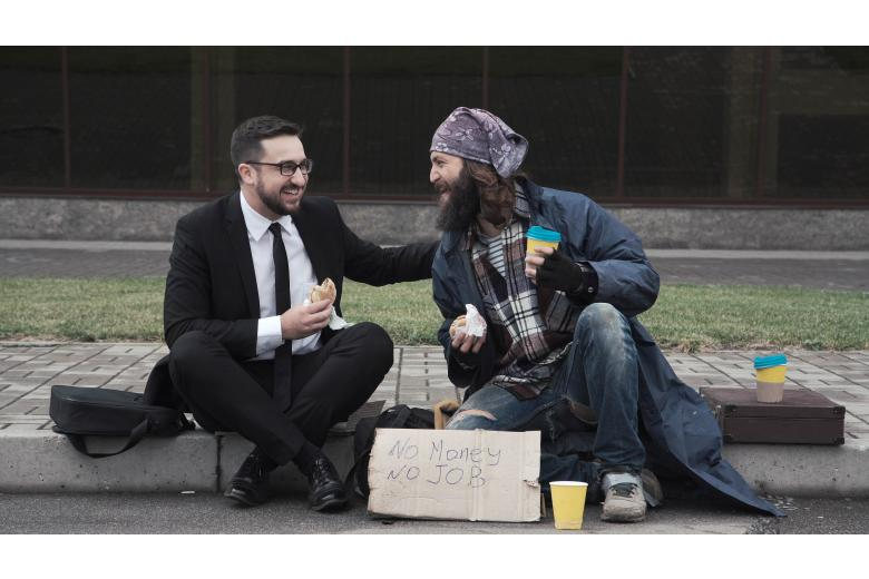 Как немецкие бездомные стали фотомоделями фото 1