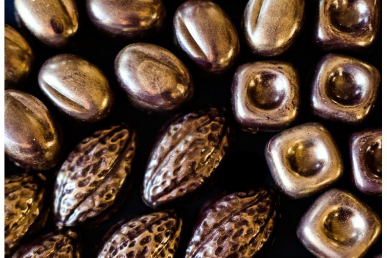 конфеты пралине с золотом