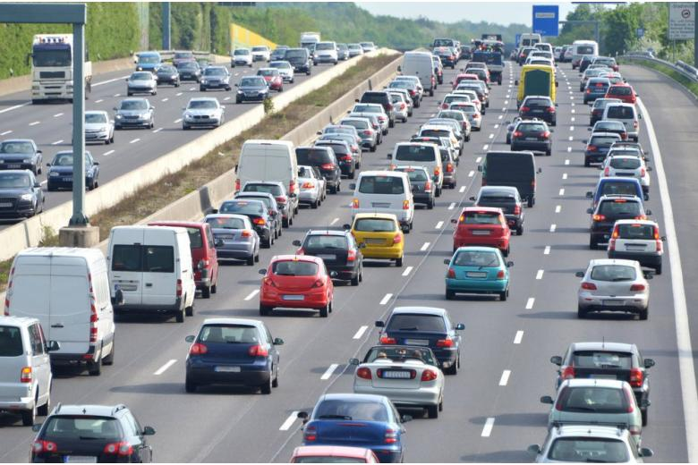 Пробки на дорогах Германии