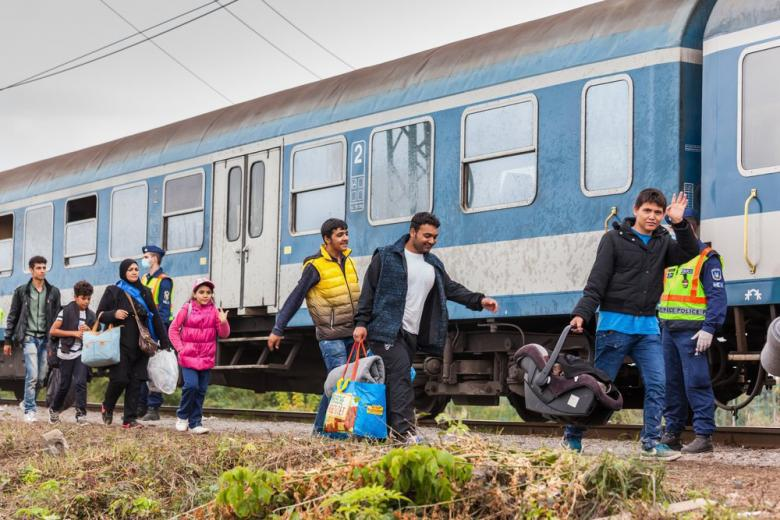беженцы прибыли в Германию