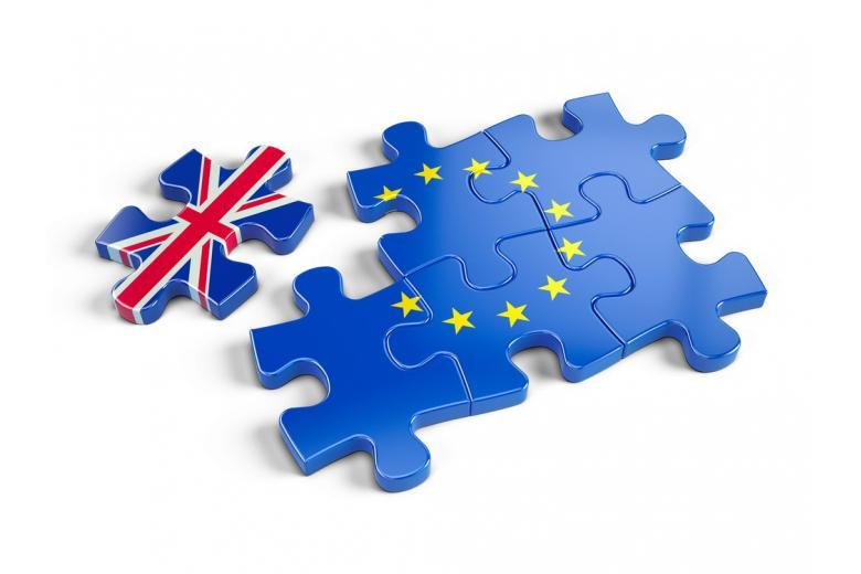 пазл с флагом Великобритании