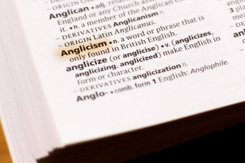 Слово англицизм в книге