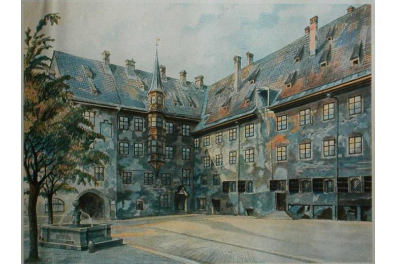 Watercolor of Adolf Hitler