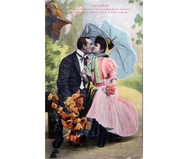 Retro Valentine card