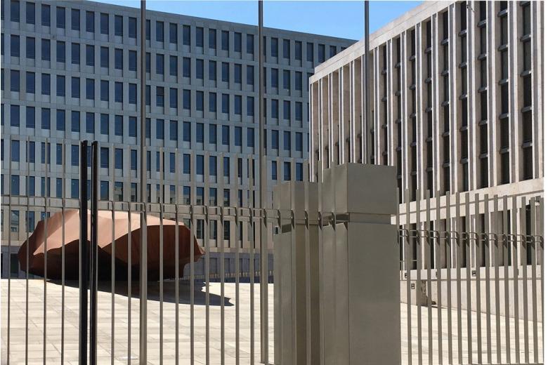 Здание внешней разведки в Берлине Bundesnachrichtendienst
