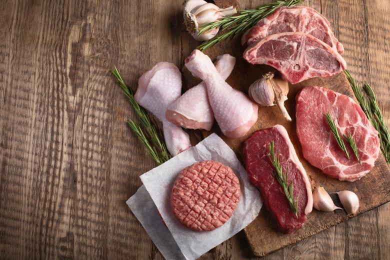 Сырое мясо курица, говядина
