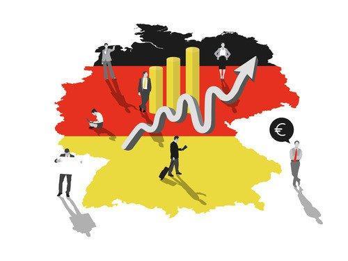 Немецкий флаг и экономика Германии