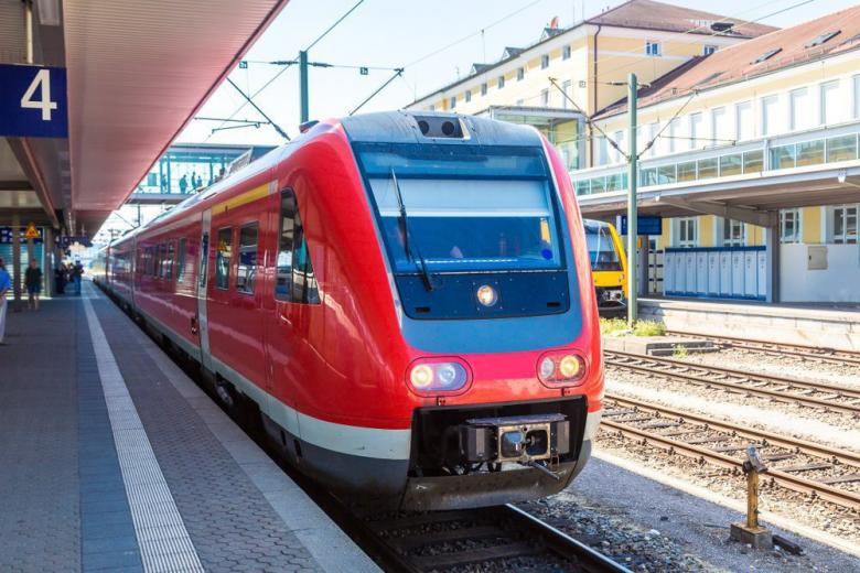 Intercity on the Munchen Station