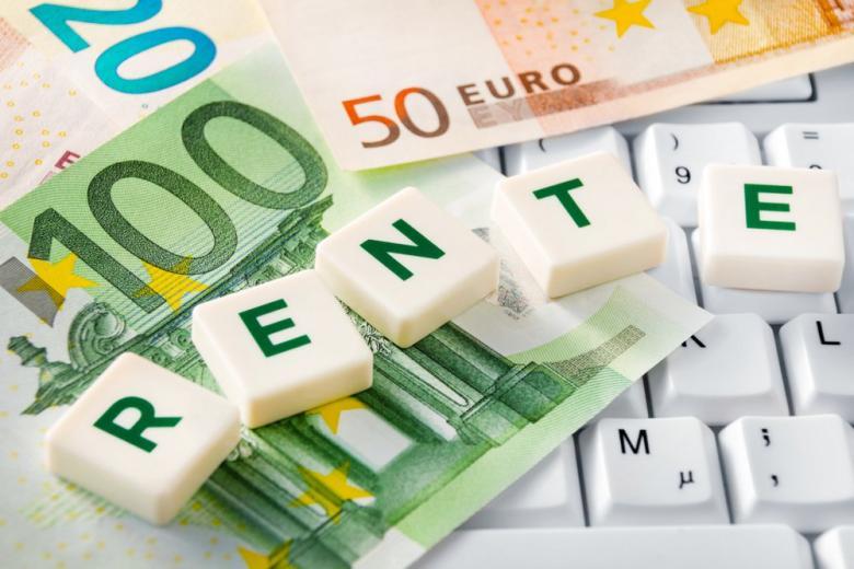 Деньги надпись пенсия на немецком