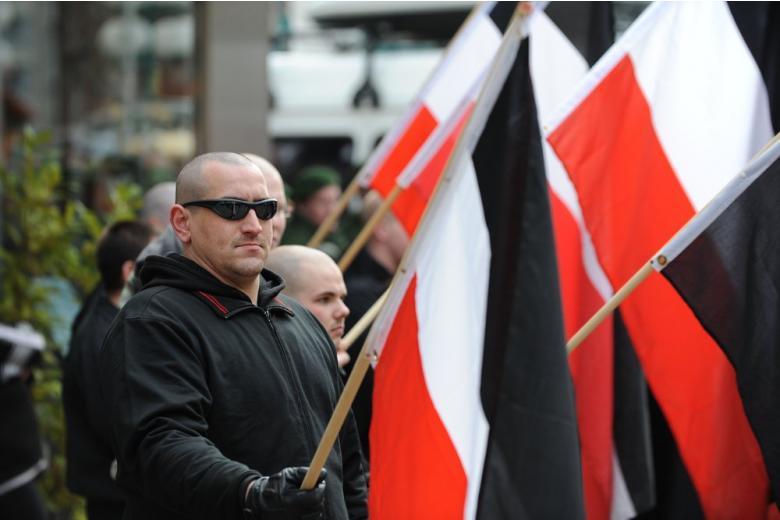 Неонацисты на митинге