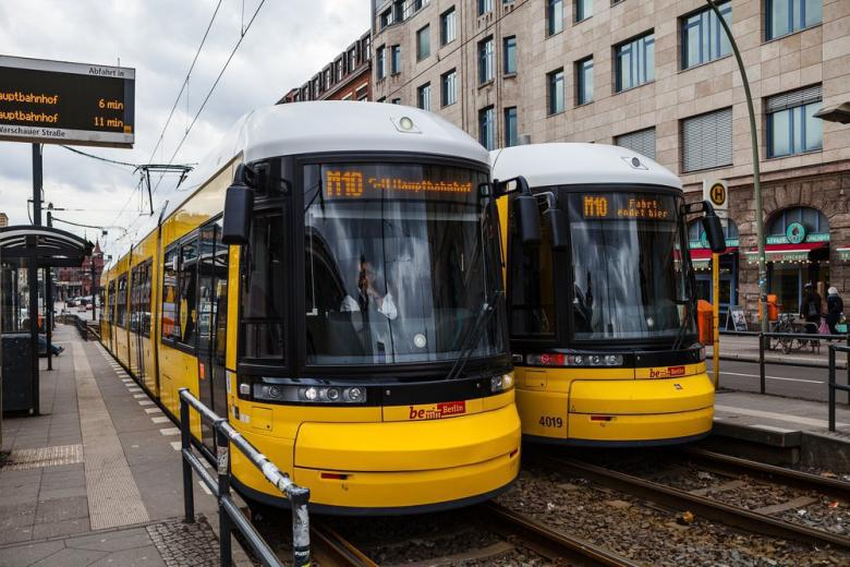 Трамваи на станции Берлина