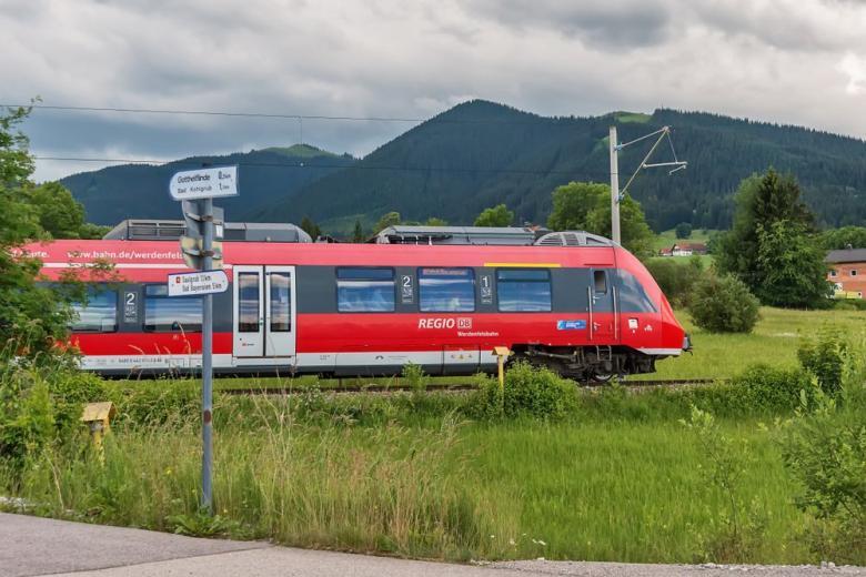 Deutsche Bahn train in Bavaria