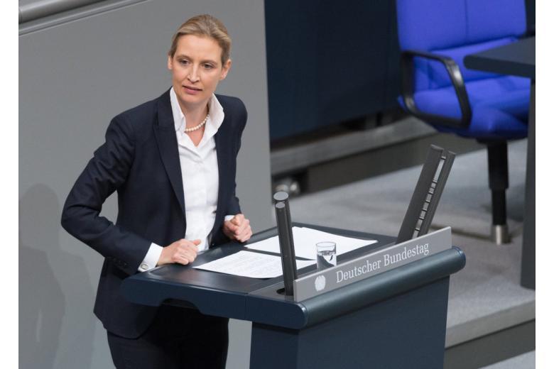 Алиса Вайдель в Бундестаге