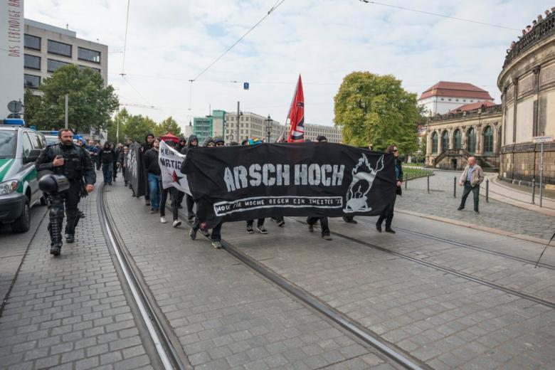 Митинг правых радикалов в Германии