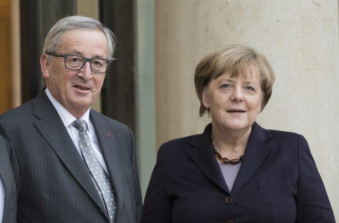 Юнкер и Меркель