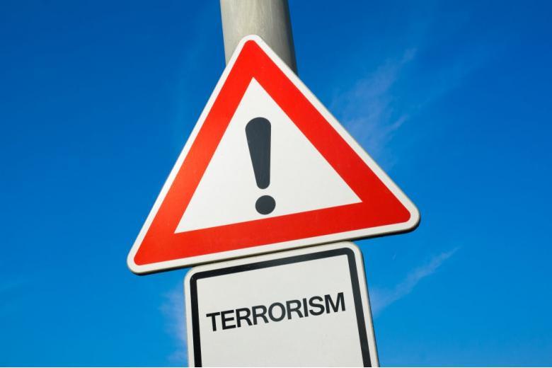 Знак запрета против терроризма фото