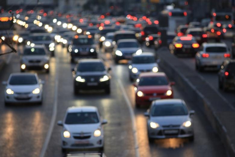 Пробка автомобили дорога