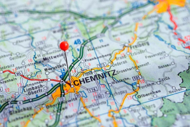 Карта Кемниц Хемниц