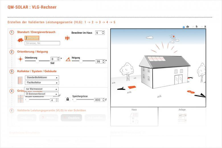Онлайн-калькулятор на сайте qm-solar.ch