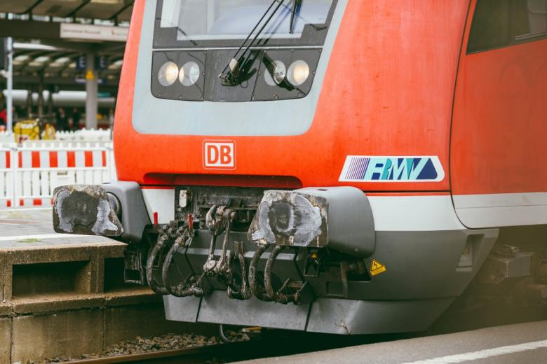 DB train in Frankfurt Central station