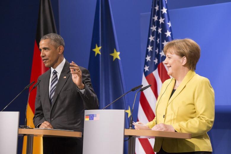 Меркель и Обама