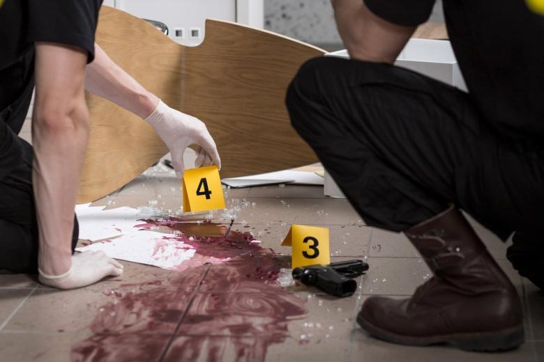 место преступления пистолет кровь
