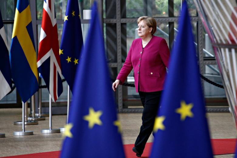 Ангела Меркель на саммит Европейского Союза