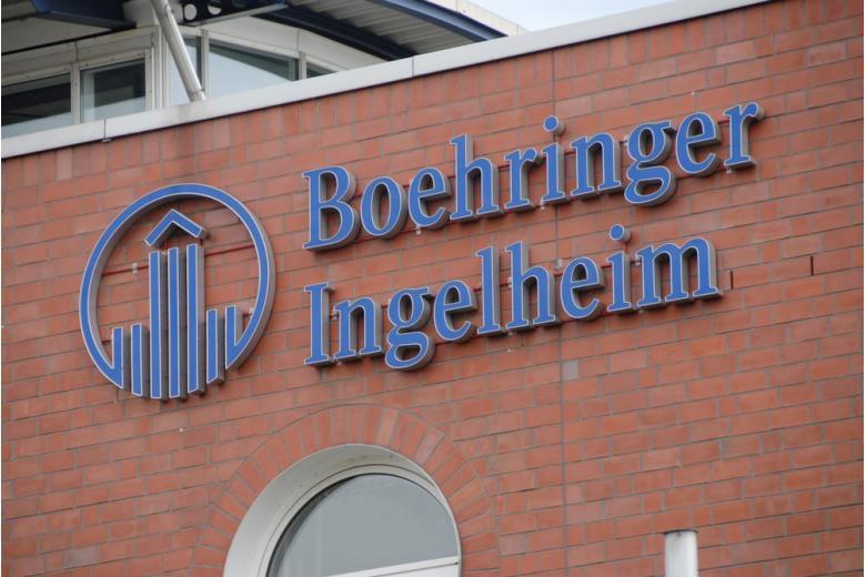 Вывеска офиса Boehringer Ingelheim