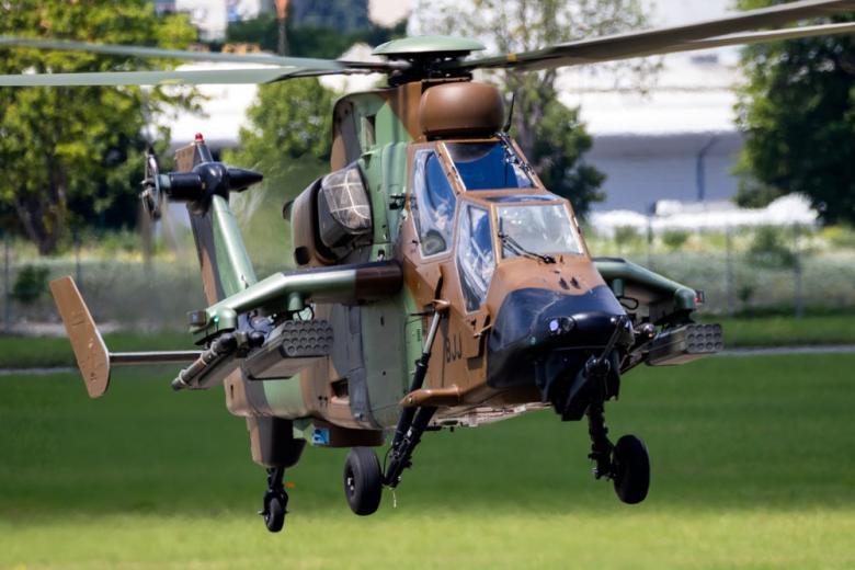 Вертолет Тигр на авиасалоне