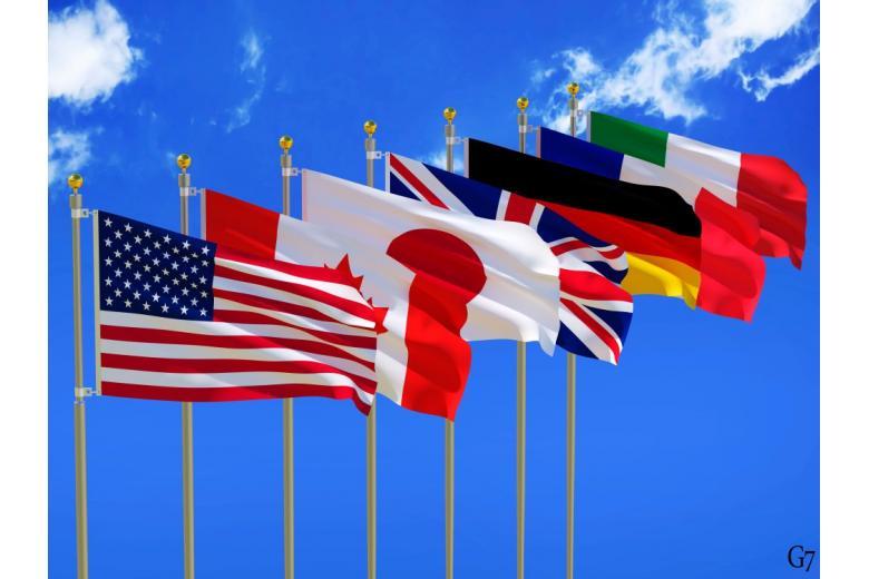Флаги стран большой семерки
