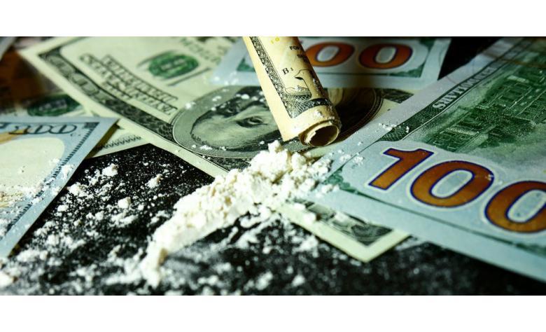Купюры евро с кокаином