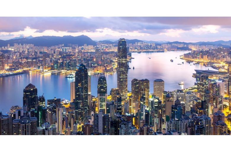 Панорама ночного Гонконга