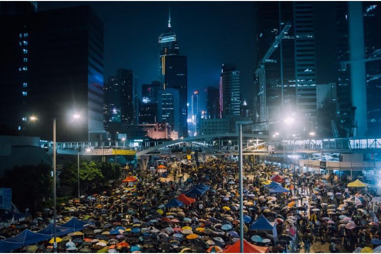 Протест в правительственном квартале Гонконга