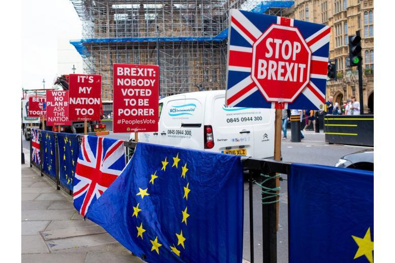 Акция протеста в поддержку анти-Брексит