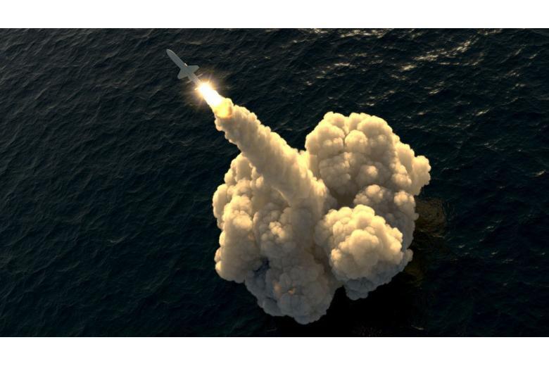 Модель взлета ядерной ракеты