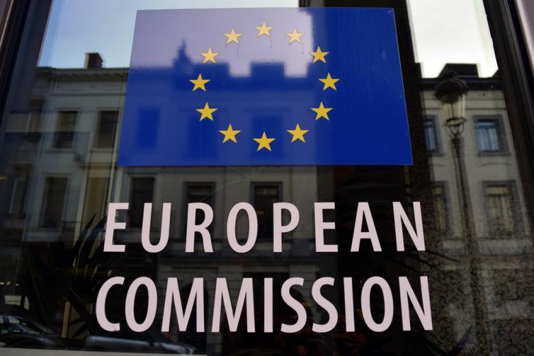 Вывеска с названием Европейская комиссия