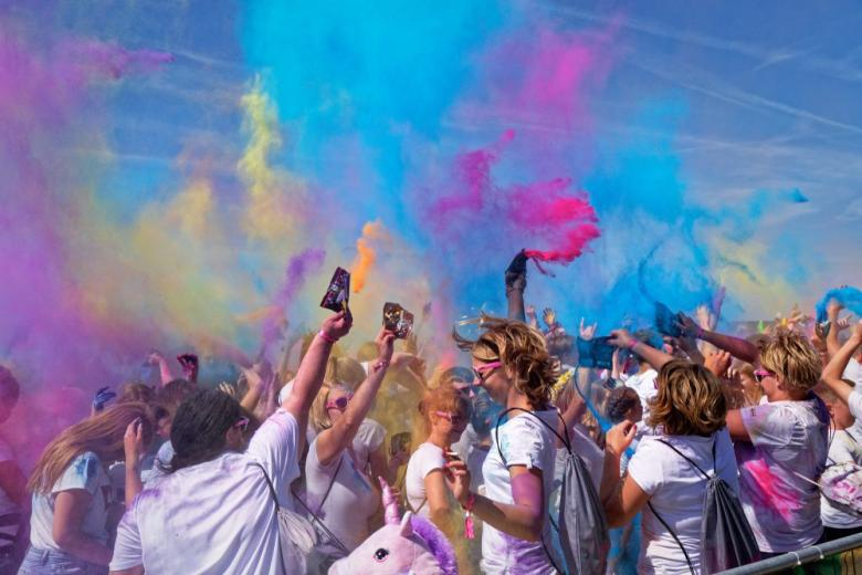 Holi Fest-2019 on Norderney, Germany