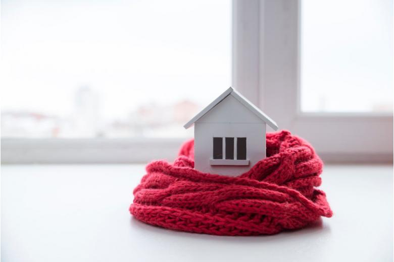 Дом в теплом шарфике