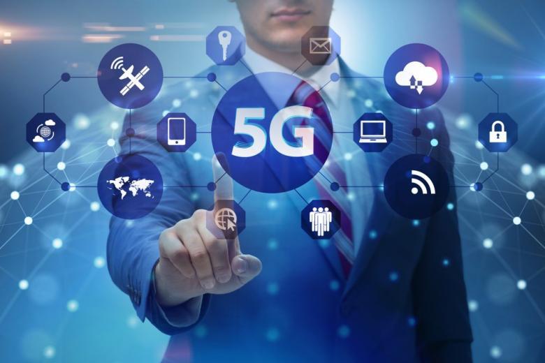 5G-технологии условное изображение, коллаж