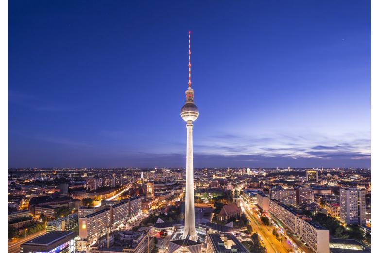 Ночная панорама с Берлинской телебашней