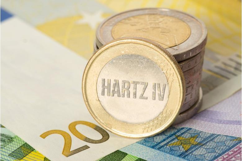 Монета с надписью Hartz IV