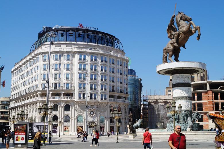 Центр столиці Северной Македонии