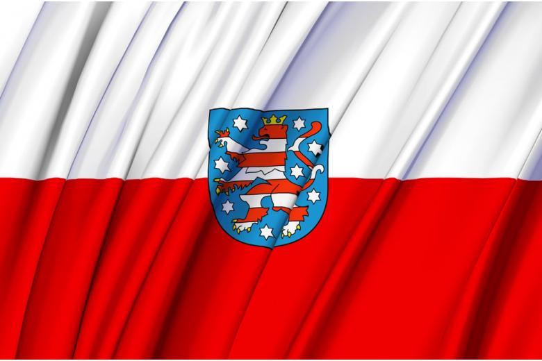 Флаг земли Тюрингия